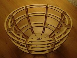 Fruteira Cúpula - Corte A Laser Mdf