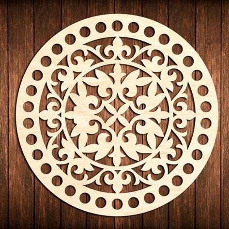 Mandala Em Mdf Cru - Diâmetro 40cm