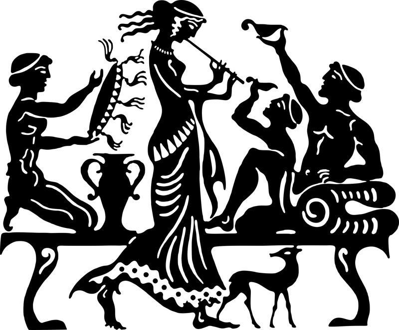 Quadro De Parede Em Mdf Pintado A Mão - Arte Grega