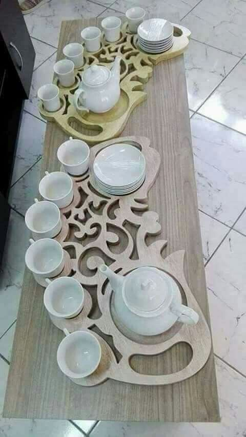 Bandeja Decorativa Porta Xícaras De Chá