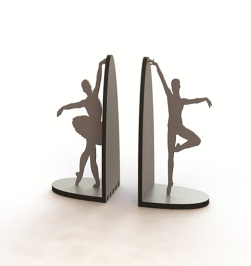 Enfeite Porta Livros Em Mdf - Bailarina