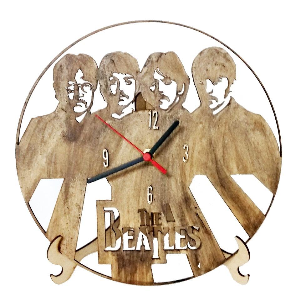 Relógio De Parede /mesa Em Mdf Vazado/ Pintado The Beatles