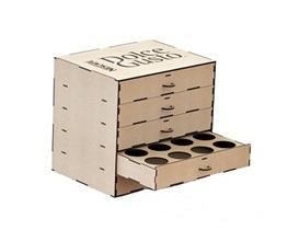 Caixa Porta Cápsulas - Dolce Gusto Mdf Cru