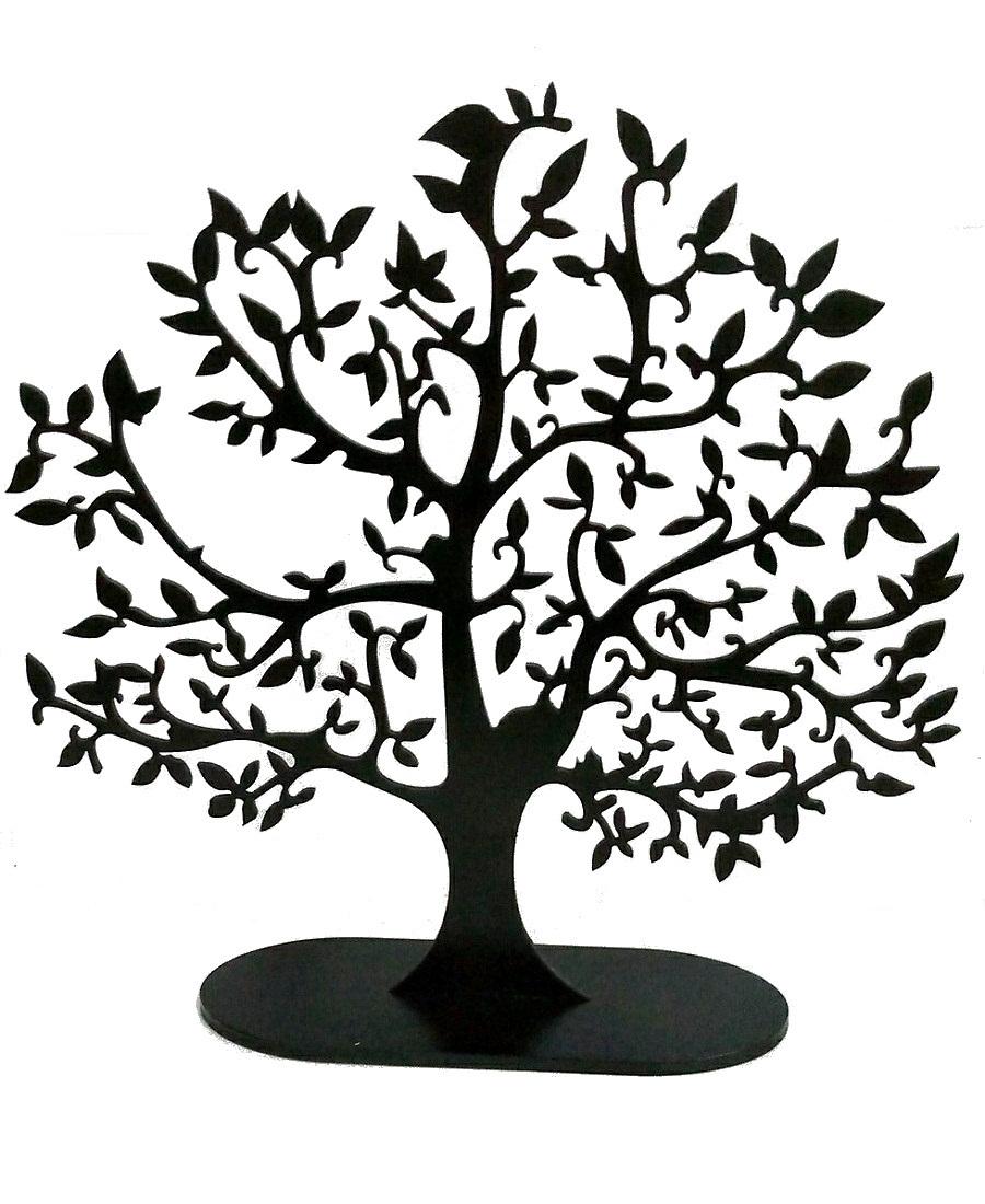 Árvore Da Vida Em Mdf 35x34cm - Cor Preto