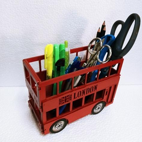 Porta Lápis Ônibus Londres Em Mdf