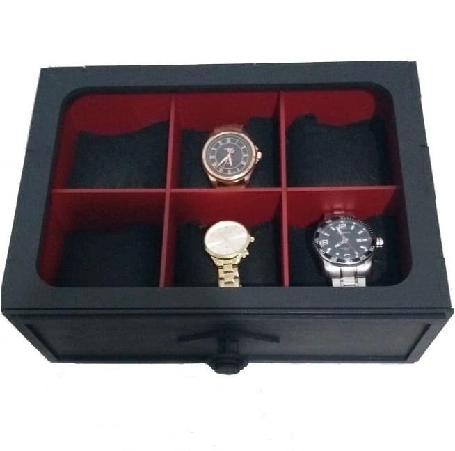 Caixa Gaveta Porta Relógio em MDF
