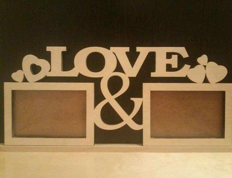 Porta Retrato Love 02 Fotos Em Mdf