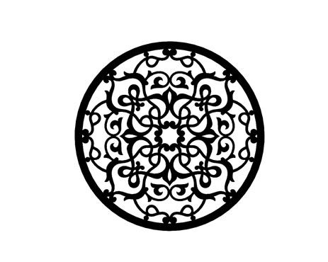 Mandala Em Mdf Pintado - Decoração De Parede 40cm