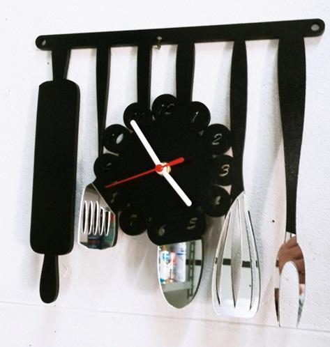 Relógio De Cozinha em MDF + Acrílico