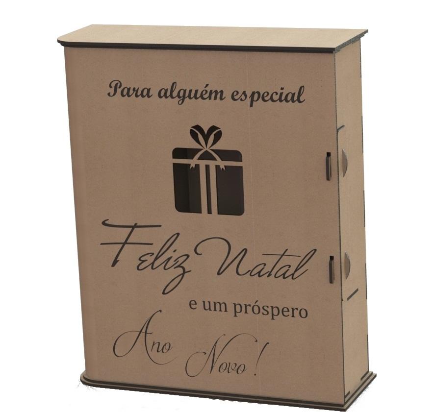 Caixa Porta Vinho Em Mdf Cru Personalizada
