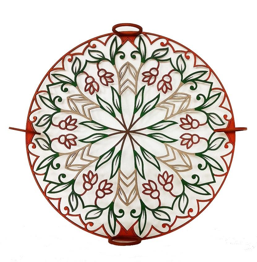 Mandala Decorativa  Em Mdf Pintado