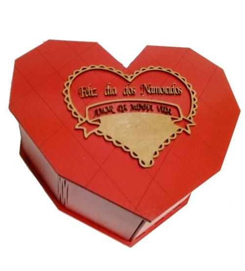 Caixa Coração Em Mdf Personalizada