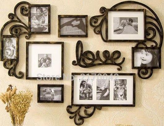 PORTA FOTOS DE PAREDE LOVE 4