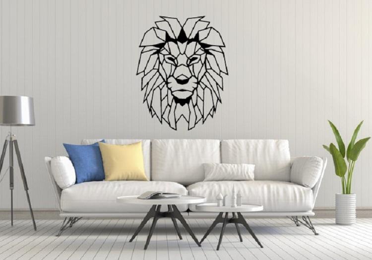 Quadro Decorativo Sala Leão Vazado Em Acrílico
