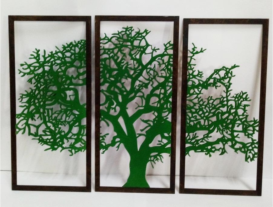 Quadro Árvore Da Vida Trio Mdf 40x21cm