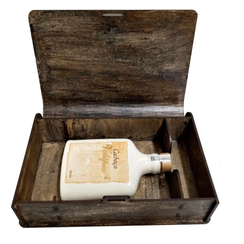 Porta Whisky/cachaça Em Mdf Pintado 120ml