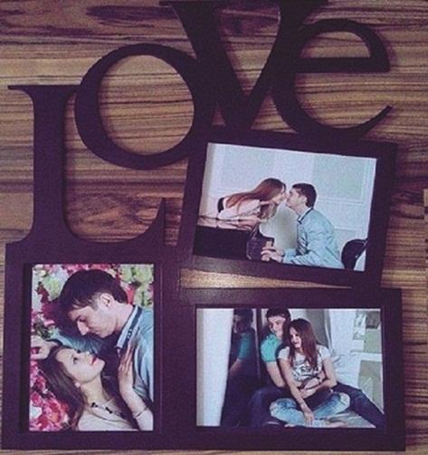 Porta Retrato Love 3 Fotos