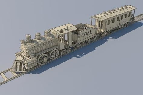 Locomotiva Com Vagão Em Mdf
