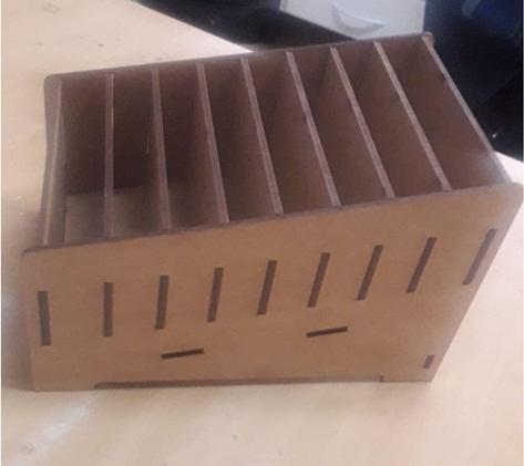 Caixa Porta Celular Para 8 Unidades Em Mdf