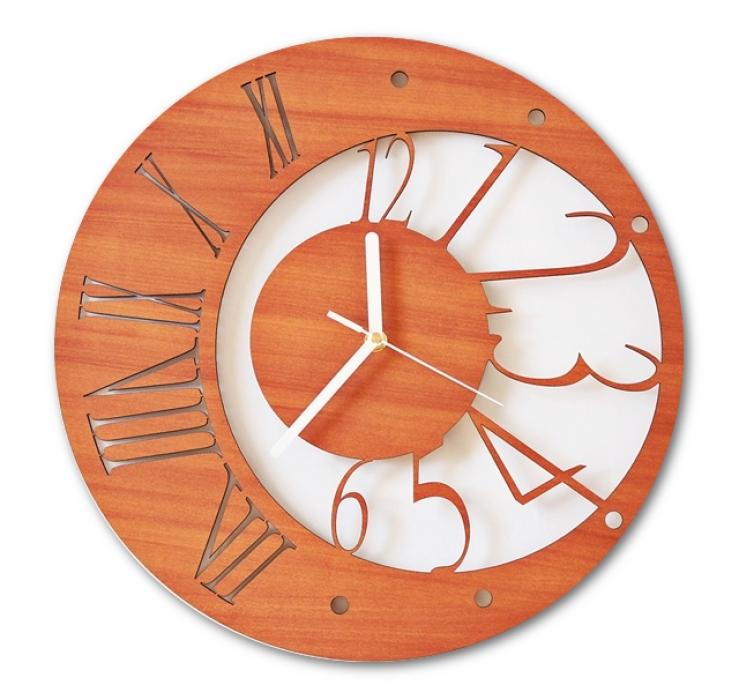 Relógio De Parede Contemporâneo Moderno Em Mdf