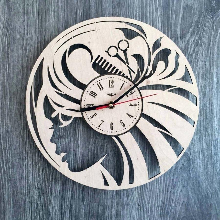 Relógio De Parede Em Mdf Vazado Para Salão Cabeleireiro