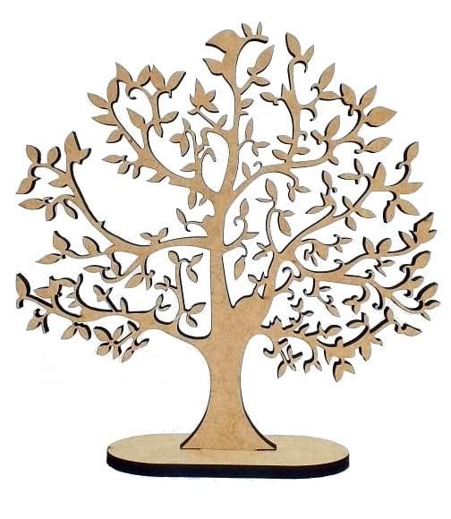Enfeite Árvore Em Mdf Cru - Árvore Da Vida