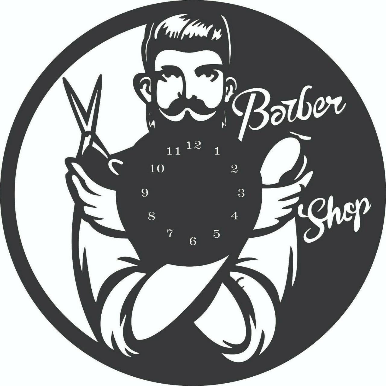 Relógio Barbearia Em Mdf Pintado