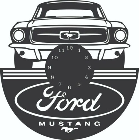 Relógio Ford Mustang De Parede Em Mdf