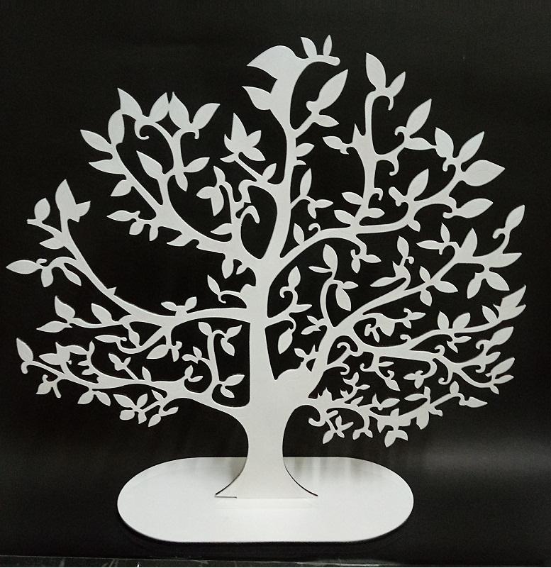 Árvore Da Vida Em Mdf Branca 35x34cm