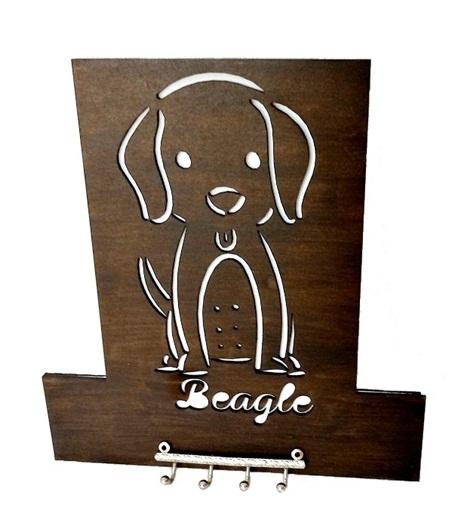 Porta Chave Beagle Em Mdf Pintado
