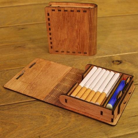 Caixa Porta Cigarros E Isqueiro Em Mdf