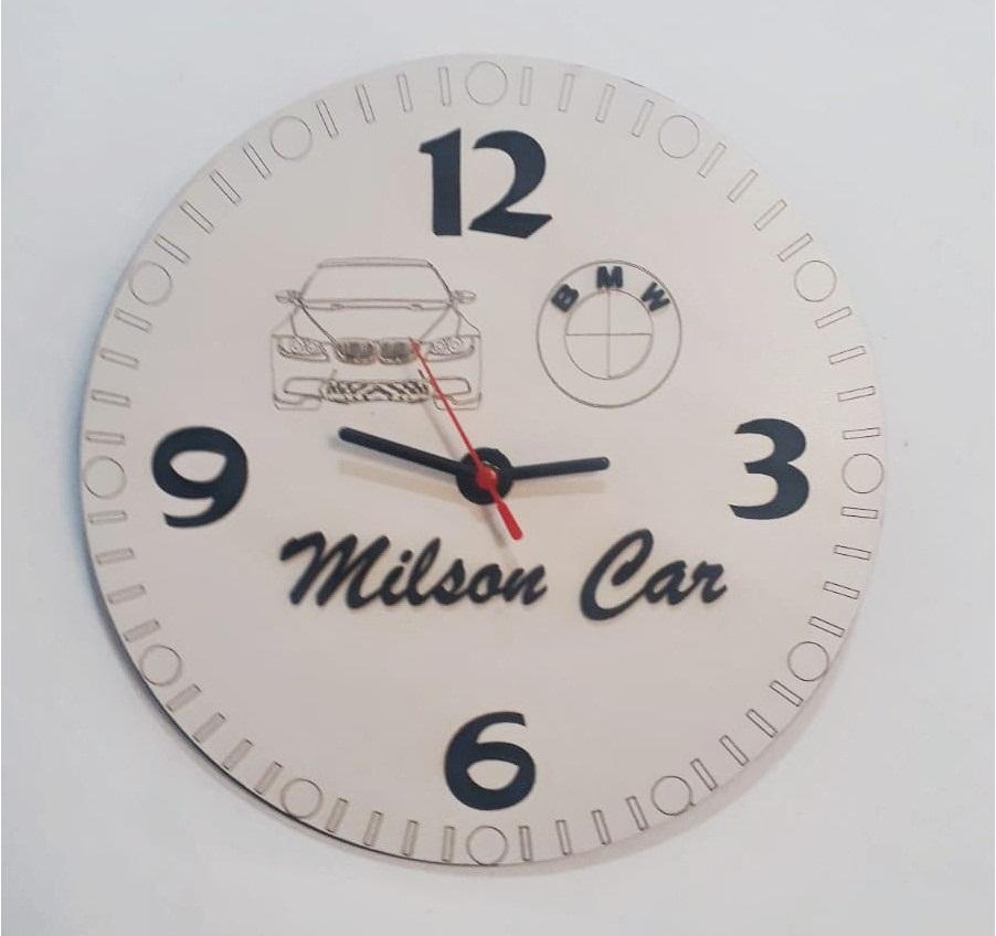 Relógio Para Oficina De Parede Personalizado Em Mdf Branco