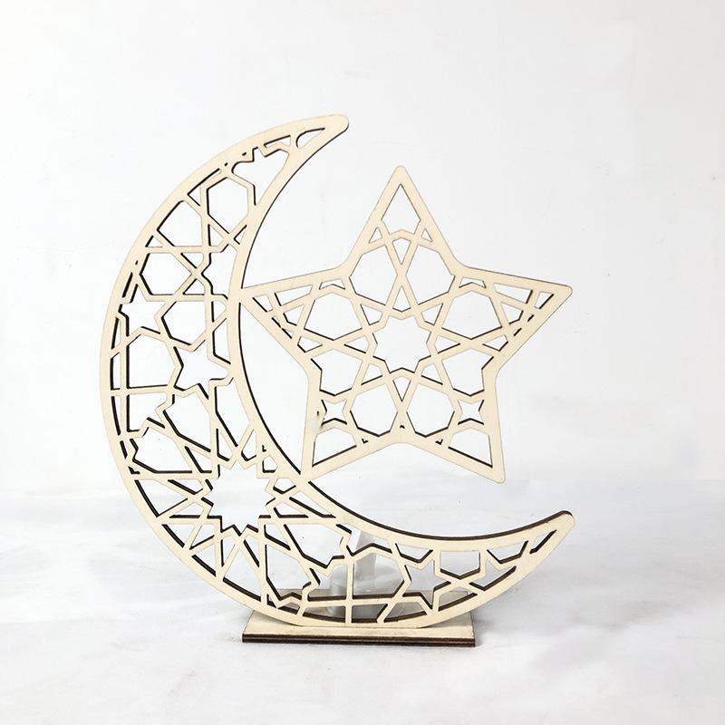 Ornamento Artes Em Mdf Estrela Da Lua Ramadan Muçulmano