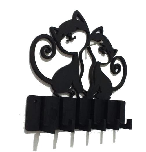 Porta Chave Gato Rústico Em Mdf Pintado