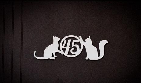 Placa Para Porta Numeração De Gato Em Mdf