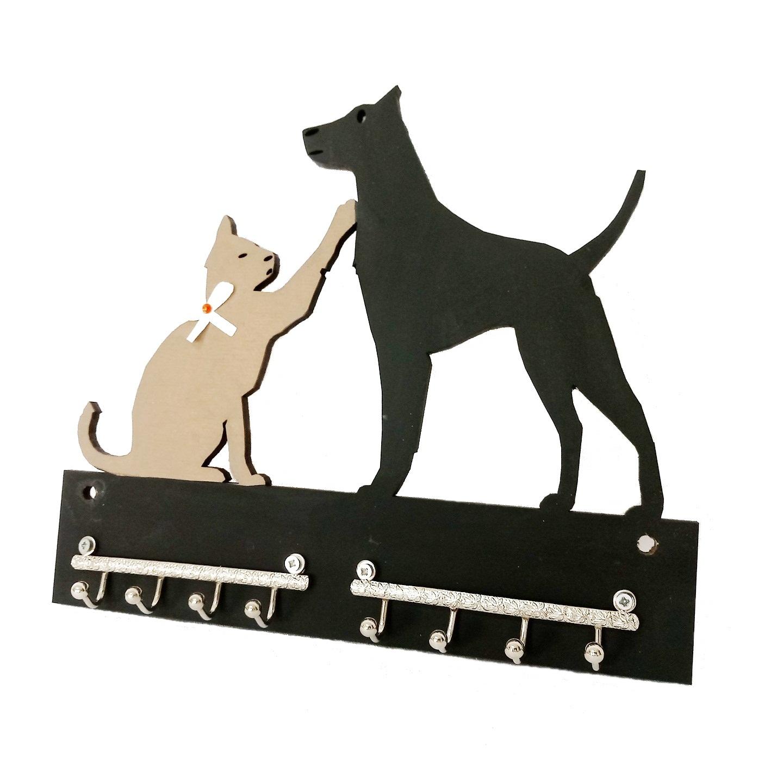 Porta Chaves Gatinho E Cachorro