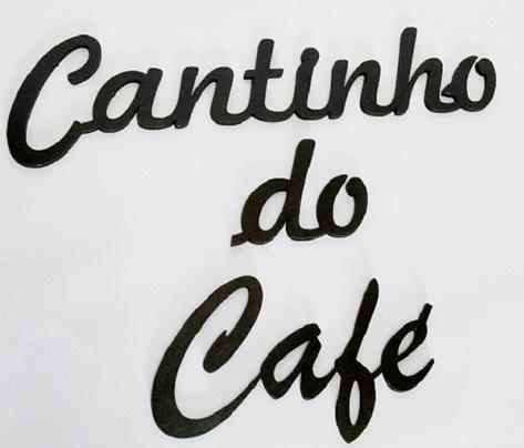 Aplique Palavra Decorativa Cantinho Do Café Mdf