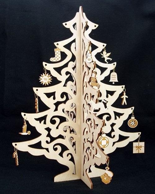 Árvore De Natal Mdf Cru - Modelo R76