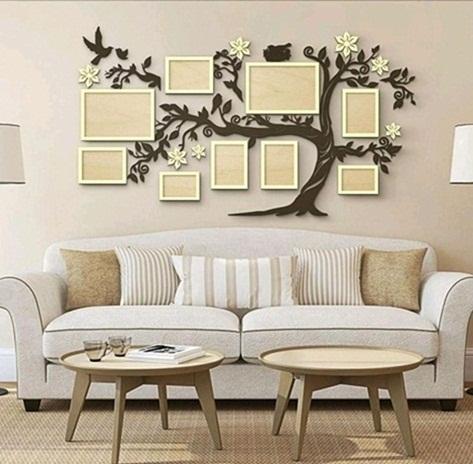 Árvore Genealógica Porta Retratos De Parede Em Mdf