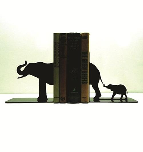 Enfeite Porta Livros Em Mdf - Elefante